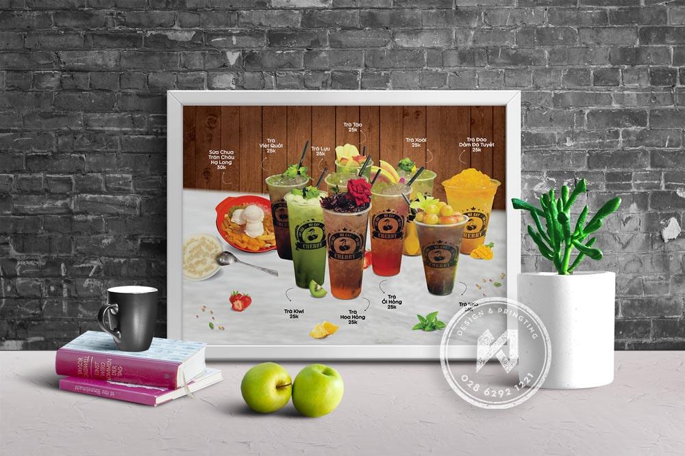 Mẫu thiết kế poster quán cafe rất đẹp