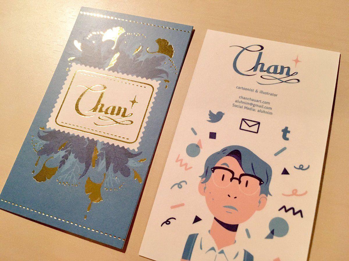 Thiết kế card visit nghệ thuật với tranh vẽ thú vị