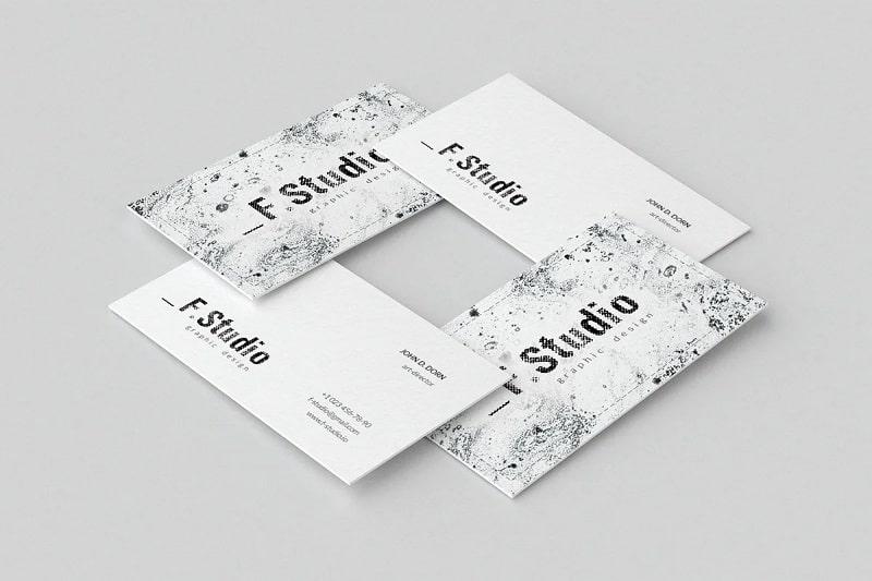 Art Business Card - Trắng và Đen