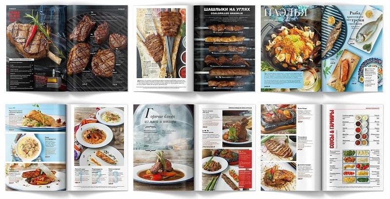 Thiết kế menu nhà hàng BBQ truyền thống