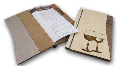 Menu gỗ holder cho nhà hàng, beer club, khách sạn, resort