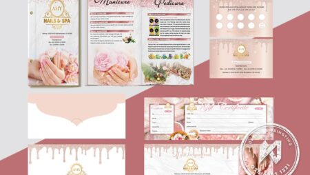 AMY Nails Spa Branding – Bộ thiết kế NailS Spa Amy
