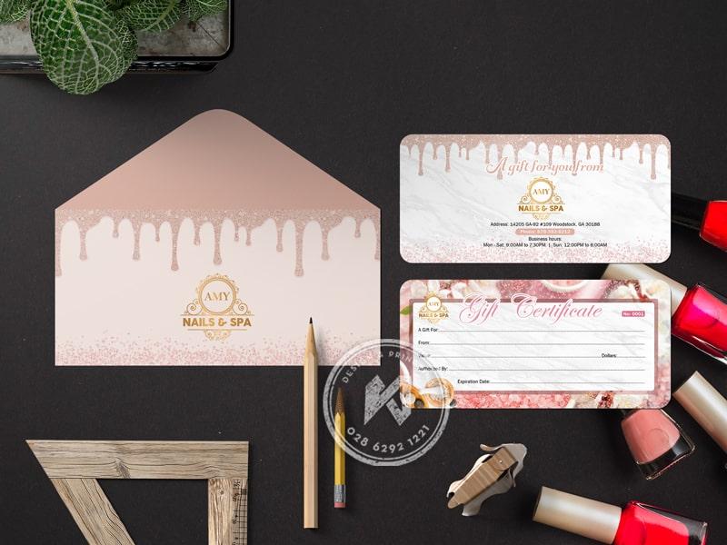 Gift voucher & bao thư Amy Nail Spa
