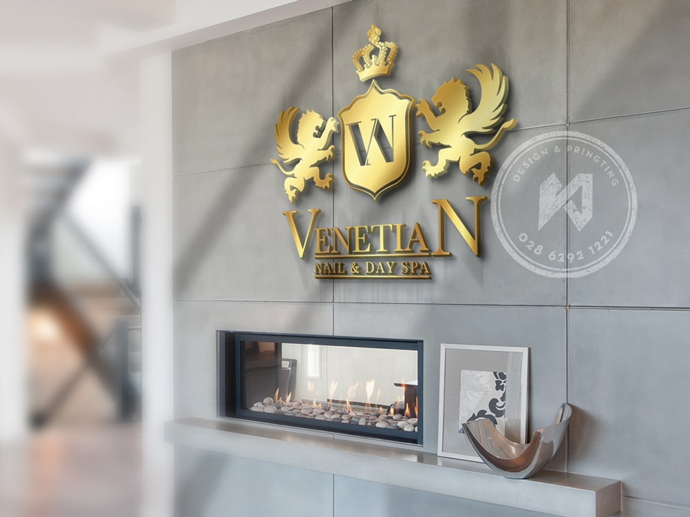 Venetian Nail & Day Spa logo Design