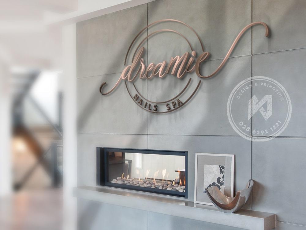 Dreamie Nails Spa Logo Design