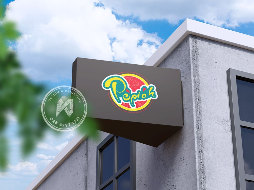 Popiah logo design