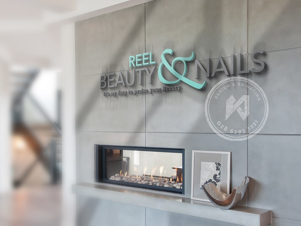 Thiết kế logo beauty Nail từ thương hiệu Reel