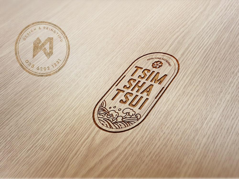 Tsimshatsui Logo nhà hàng khắc gỗ