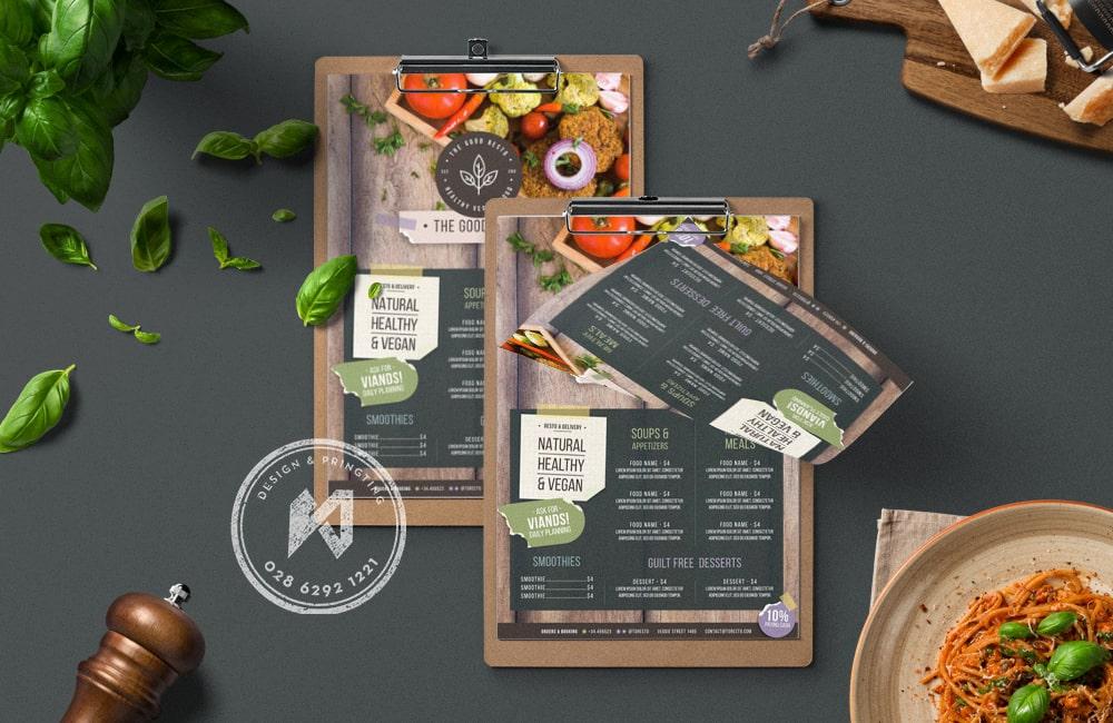 Mẫu thiết kế menu quán ăn chay