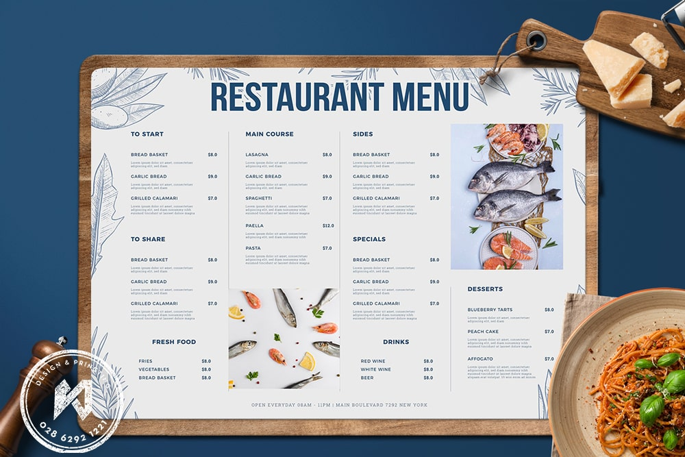 Thiết kế thực đơn cho quán ăn gia đình