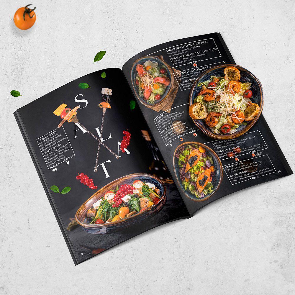 Thiết kế menu Salad phong cách BBQ