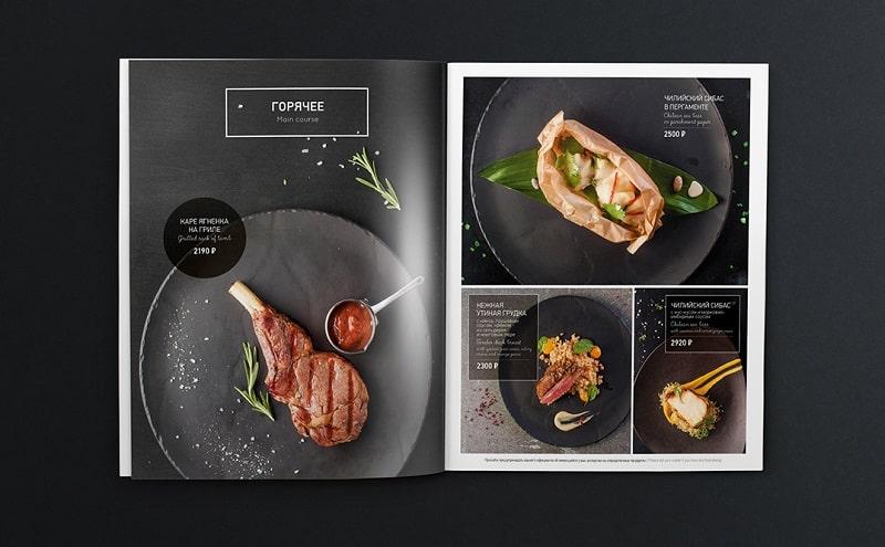 Phong cách thiết kế thực đơn BBQ hiện đại