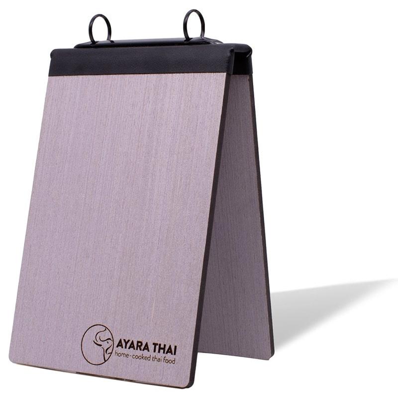 Dạng menu gỗ holder để bàn sáng tạo