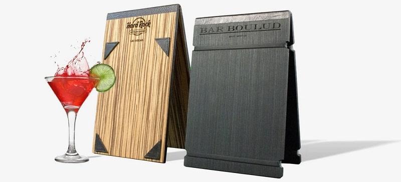 Kiểu làm bìa menu gỗ đứng bàn bằng gỗ mới lạ