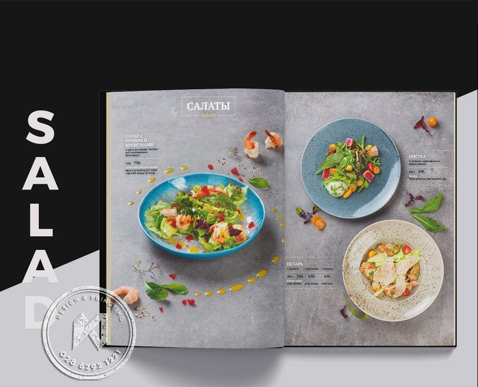 Mẫu thực đơn Salad đặc sắc