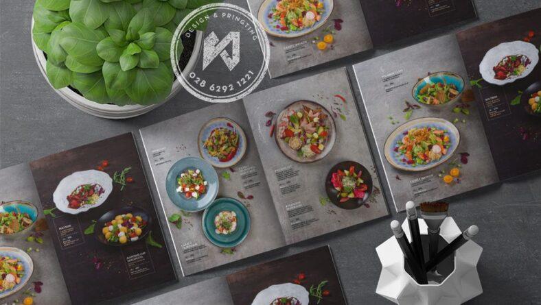 Mẫu thiết kế menu nhà hàng Salad