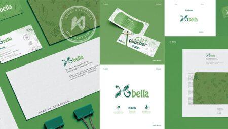 Thiết kế thương hiệu Shop Organic – Hi Bella Shop tốt cho mẹ và bé