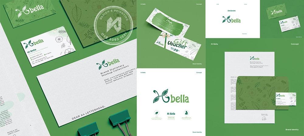 Thiết kế thương hiệu Shop Organic - Hi Bella Shop tốt cho mẹ và bé