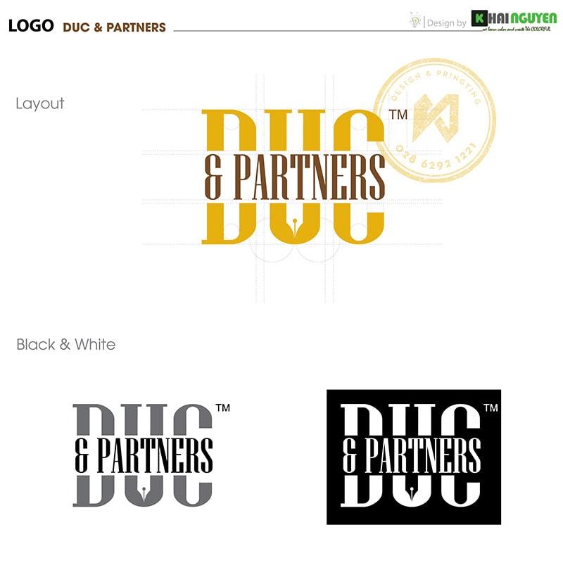 Thiết Kế Logo Công Ty Luật DUC & PARTNERS