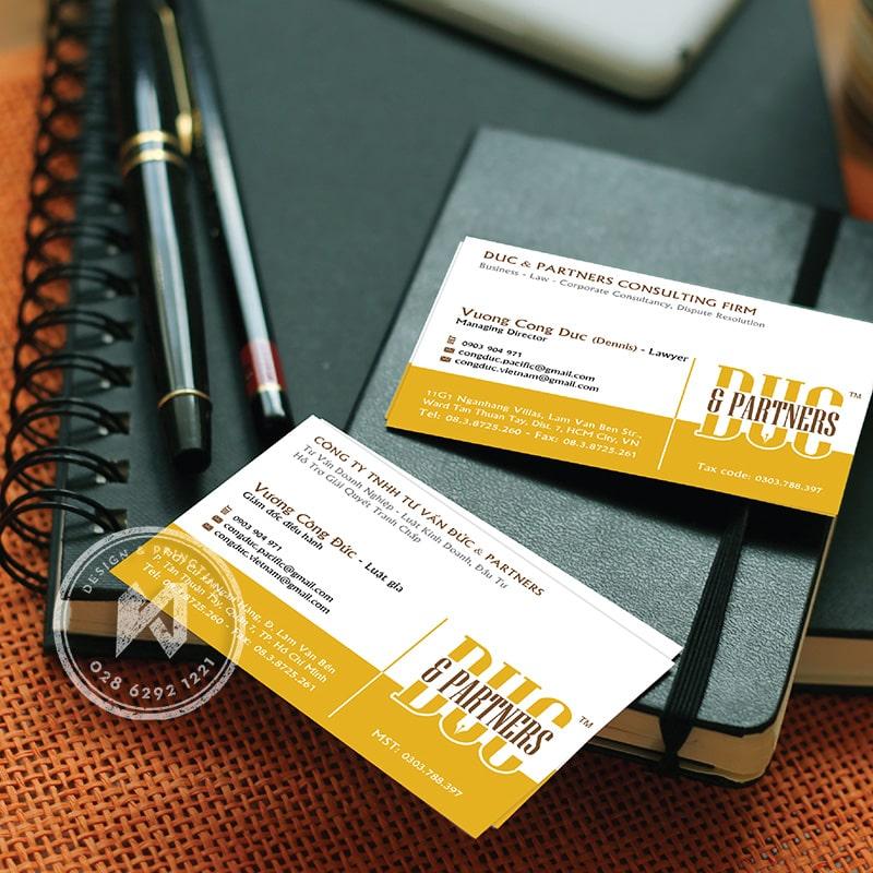 Thiết kế card visit công ty luậtDUC & PARTNERS