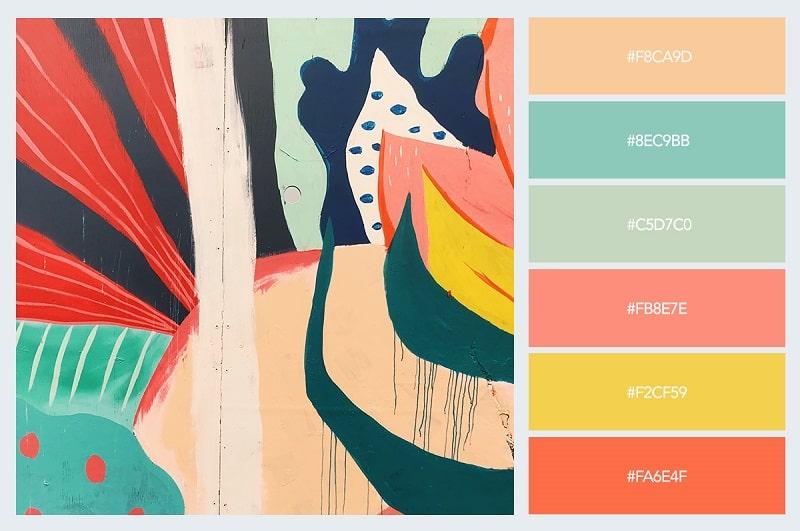 Thiết kế voucher, card visit, brochure thú vị với nhịp màu paster sinh động