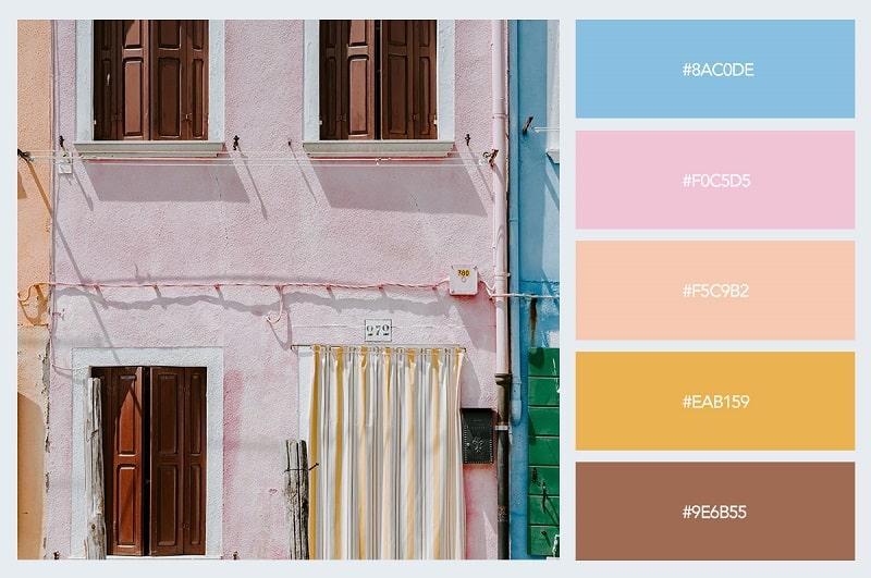 Màu pastel trong kiến trúc