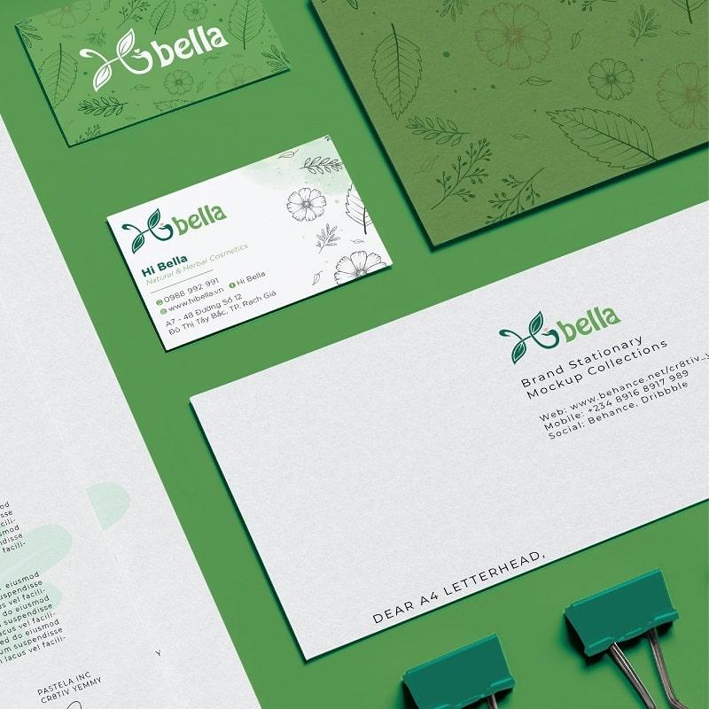 Mẫu thiết kế card visit & bao thư cho shop mẹ và bé