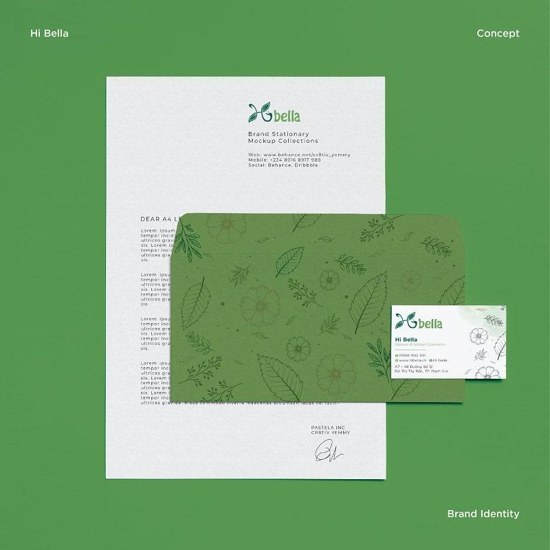 Mẫu thiết kế bao thư và giấy tiêu đề