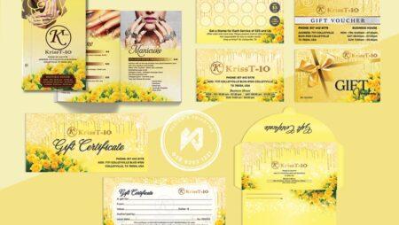 Thiết kế tiệm Nails tại Mỹ (KT KrissT Nails) hồng vàng rực rỡ