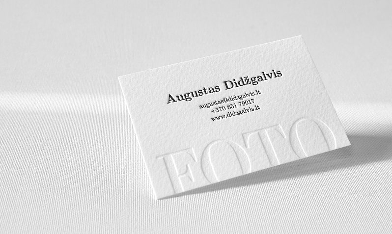 Embossing  Businesscard