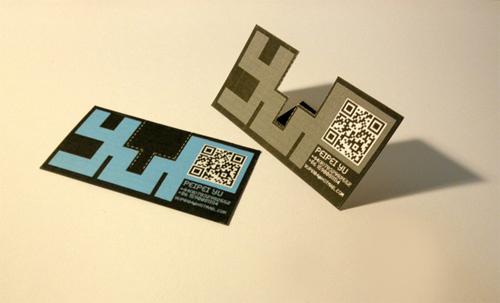 Die cut name card và Qr Code