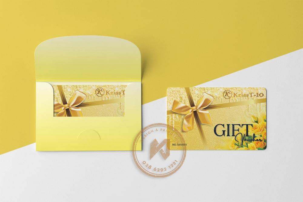 Kiểu bao đựng gift card KT KRISS