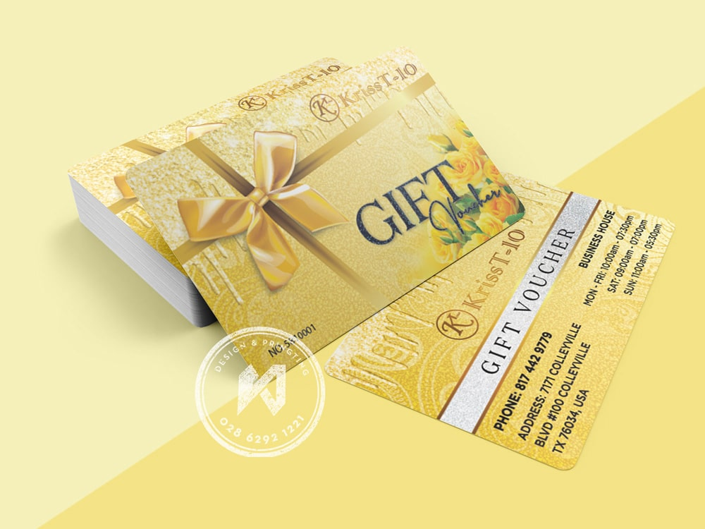 Bộ gift voucher KT Nails ở MỸ