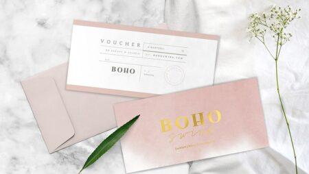 Mẫu voucher kèm bao thư sang trọng – Holder gift voucher