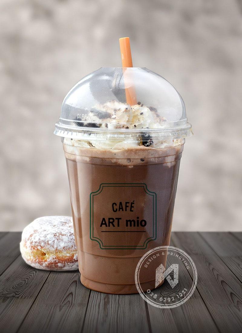 In logo dán ly cho quán cà phê ART Mio