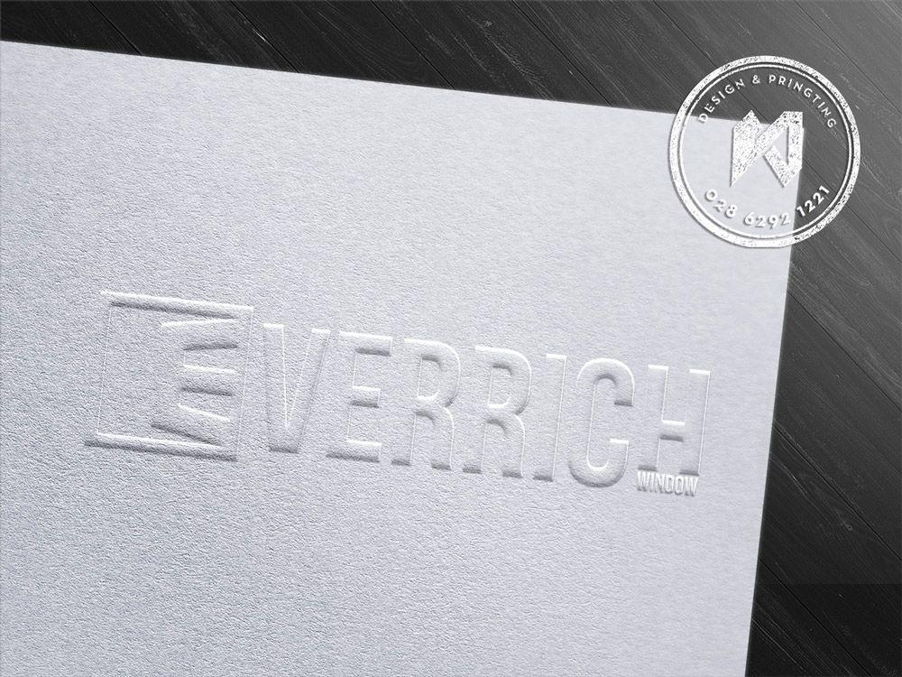 Dập nổi logo trên giấy mỹ thuật