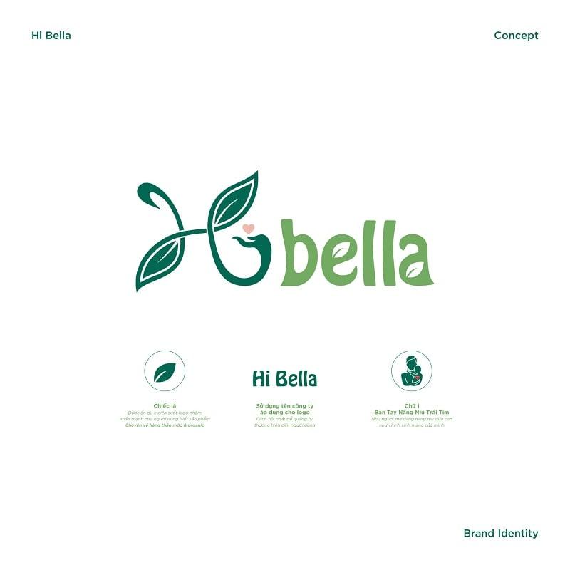 Bảng phân tích thiết kế logo Hi Bella