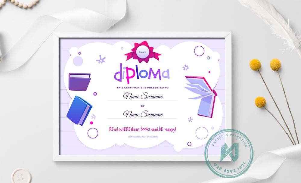 Thiết kế giấy khen đẹp cho trẻ em