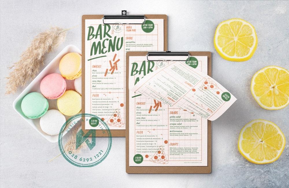 Bar Menu - Mẫu menu cho các quán bar mini