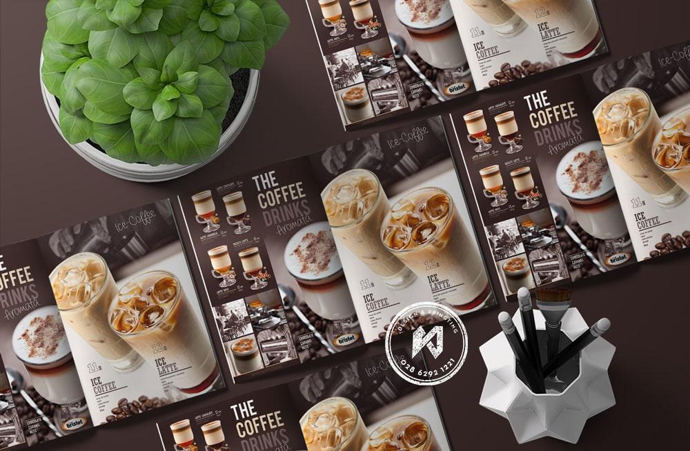 Thiết kế menu quán cafe đẹp và sáng tạo