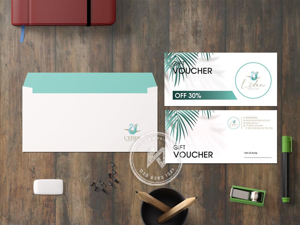 Mẫu thiết kế voucher mới 2021 - ELDEN SHOP