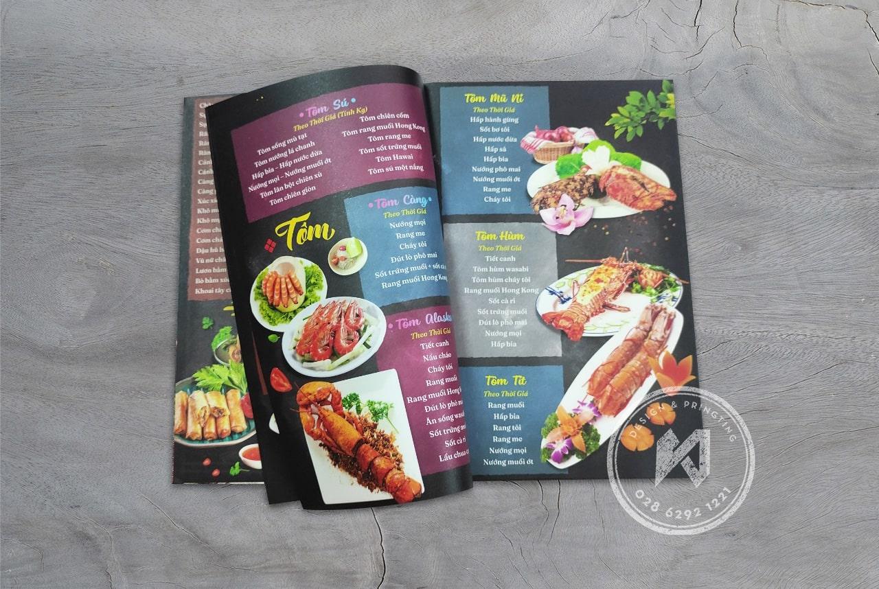 Thiết kế menu nhà hàng Vườn An Nhiên