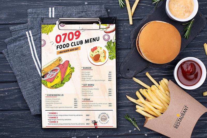 Phong cách thiết kế menu 2021 - Hình vẽ