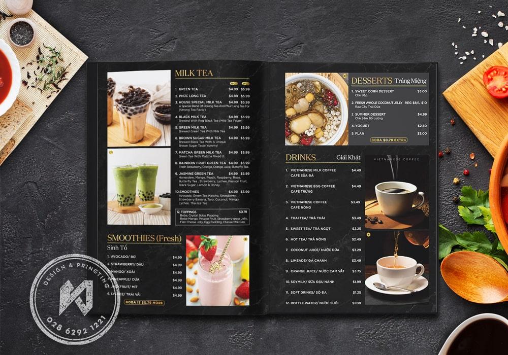 Thiết kế menu Phở cho nhà hàng Tail