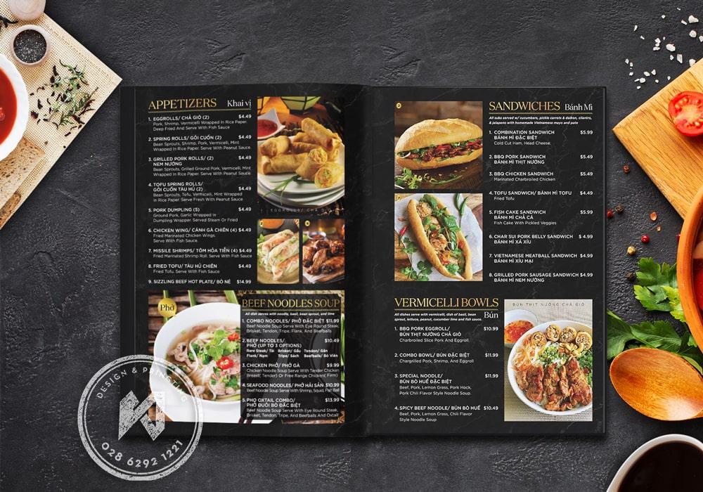 Noodle soup menu Design