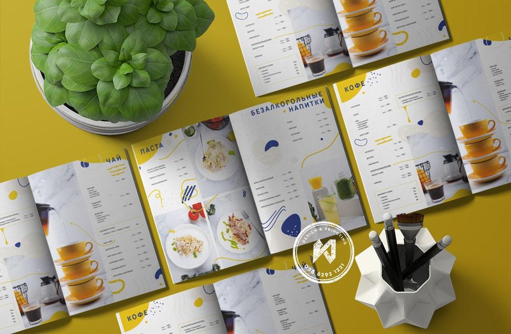 Mẫu menu quán cafe đẹp dạng văn phòng