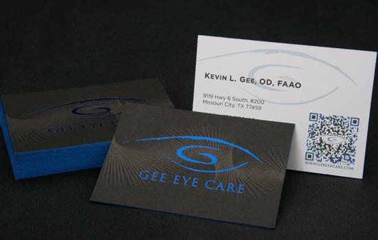 Name card bồi dày ép kim viền và in QR Code