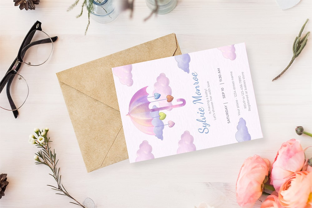 Thiệp mời sinh nhật đầy màu sắc