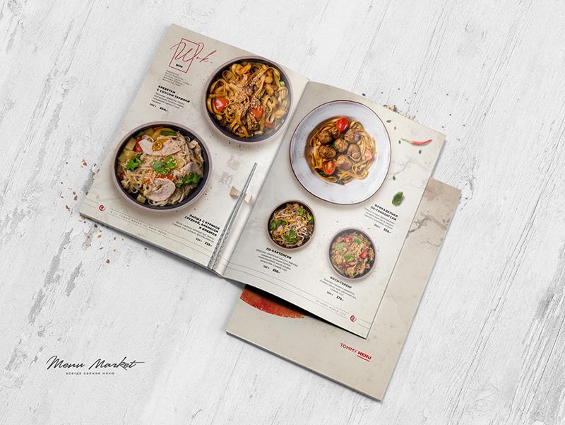 Phong cách thiết kế menu nhà hàng