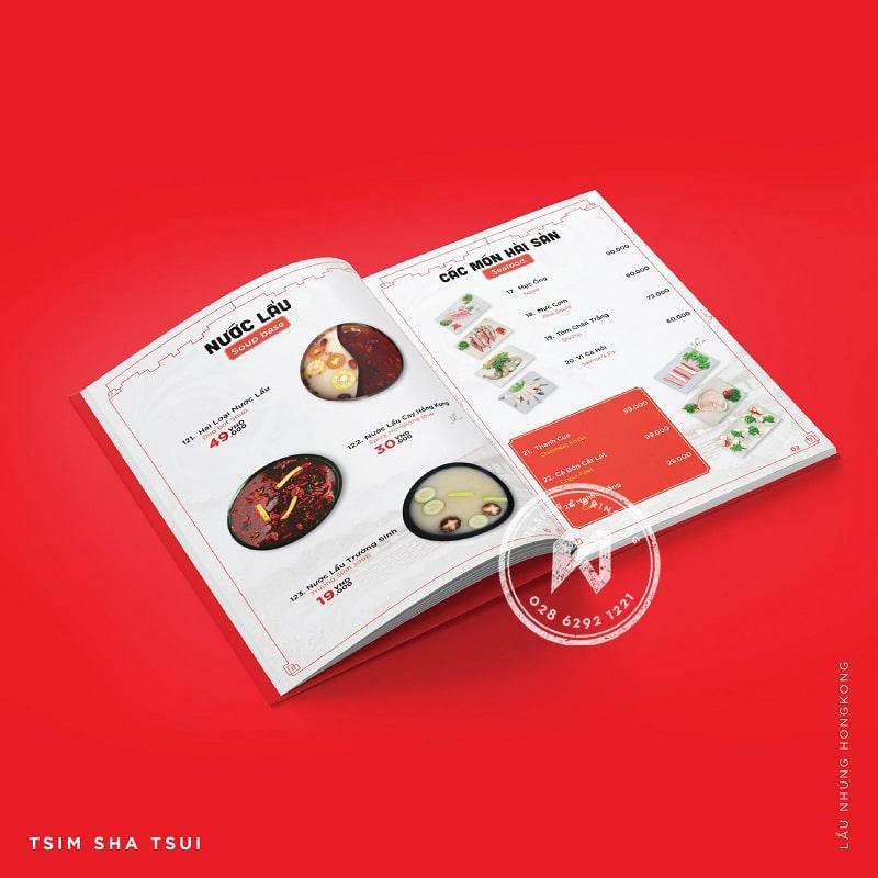 Thiết kế menu Lẩu Nhúng Hong Kong